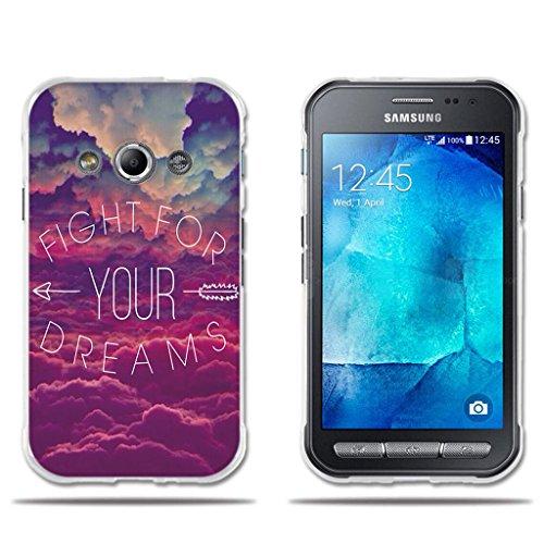FUBAODA Funda Carcasa para Samsung Galaxy Xcover 3, Carcasa de Silicona Transparente TPU, Dibujo de Cielo Ensueño, Carcasa Protectora de Goma de Altisima Calidad para Samsung Xcover 3 (4.5')