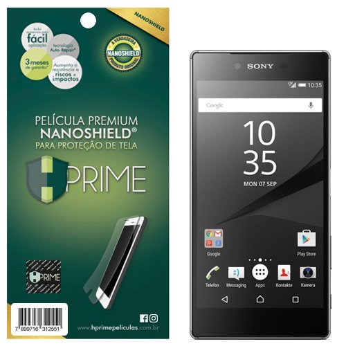 Pelicula NanoShield para Sony Xperia Z5 Premium, HPrime, Película Protetora de Tela para Celular, Transparente