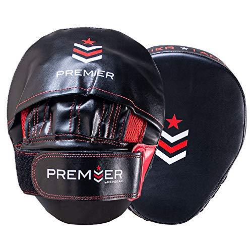 Revgear Premier Focus Fäustlinge | Ideal zum Aufbau Ihrer Kampfsport-Fähigkeiten | Verwendung im Fitnessstudio oder zu Hause (rot/schwarz)