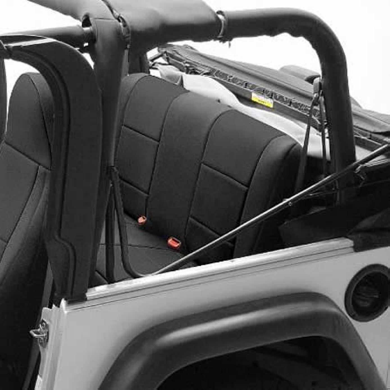 Coverking Custom Fit Seat Cover for Jeep Wrangler TJ 2-Door - (Neoprene, Solid Black) by Coverking