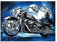QMGLBG 5Dダイヤモンド塗装クールなオートバイダイヤモンド塗装ラインストーン刺繍クロスステッチ手工芸壁装飾用品40*50cm