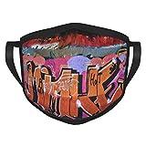 graffiti Adulti bordura Maschere Fad Fiore Vernice & Inchiostro Viso Maschere Lavabili Coperture Viso Protezione Portatile Bordo Elastico 1 Pacchetto