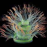 KUIDAMOS Adorno de Planta para Acuario Seis Opciones de Color para pecera(Orange, 50cm)