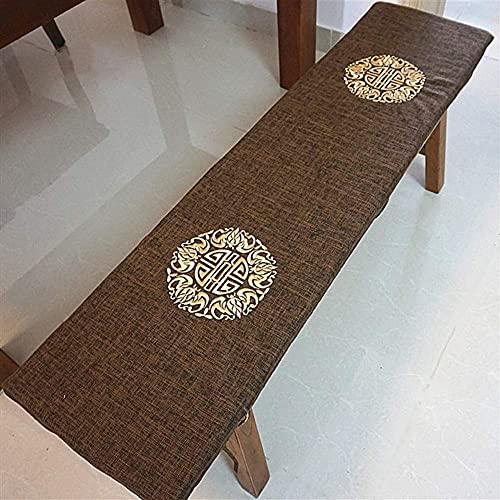 erddcbb Cojines Largos Transpirables para sillas mecedoras, cojín de Banco Columpio Relleno, Esponja para Interiores y Exteriores, Cojines para sillas de Patio Rellenos de Esponja A 30x120cm (12x47i