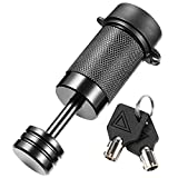 CZC AUTO Trailer Tongue Coupler Lock, Dia 1/4 Inch, 7/8 Inch Span Fits Latch-Type Coupler for Towing Boat Truck RV Car Trailer