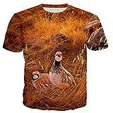 Caza Perdiz Pájaro Hombres/Mujeres Cool 3D Impreso Camisetas Casual Harajuku Estilo