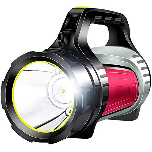 Antorcha eléctrica de modo de espera ultra larga Luz de campamento LED Luz recargable Spotlight al aire libre Camping Linterna Flashlight Torch Búsqueda a prueba de agua para la pesca de senderismo Co