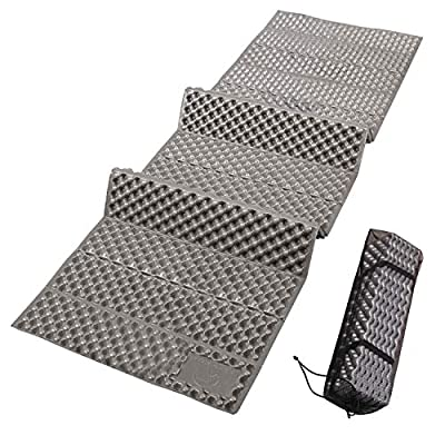 """REDCAMP Closed Cell Foam Camping Sleeping Pad, 22"""" Wide Lightweight Folding Camping Pad for Hiking Backpacking, 72""""x22""""x0.75"""", Blue/Grey"""
