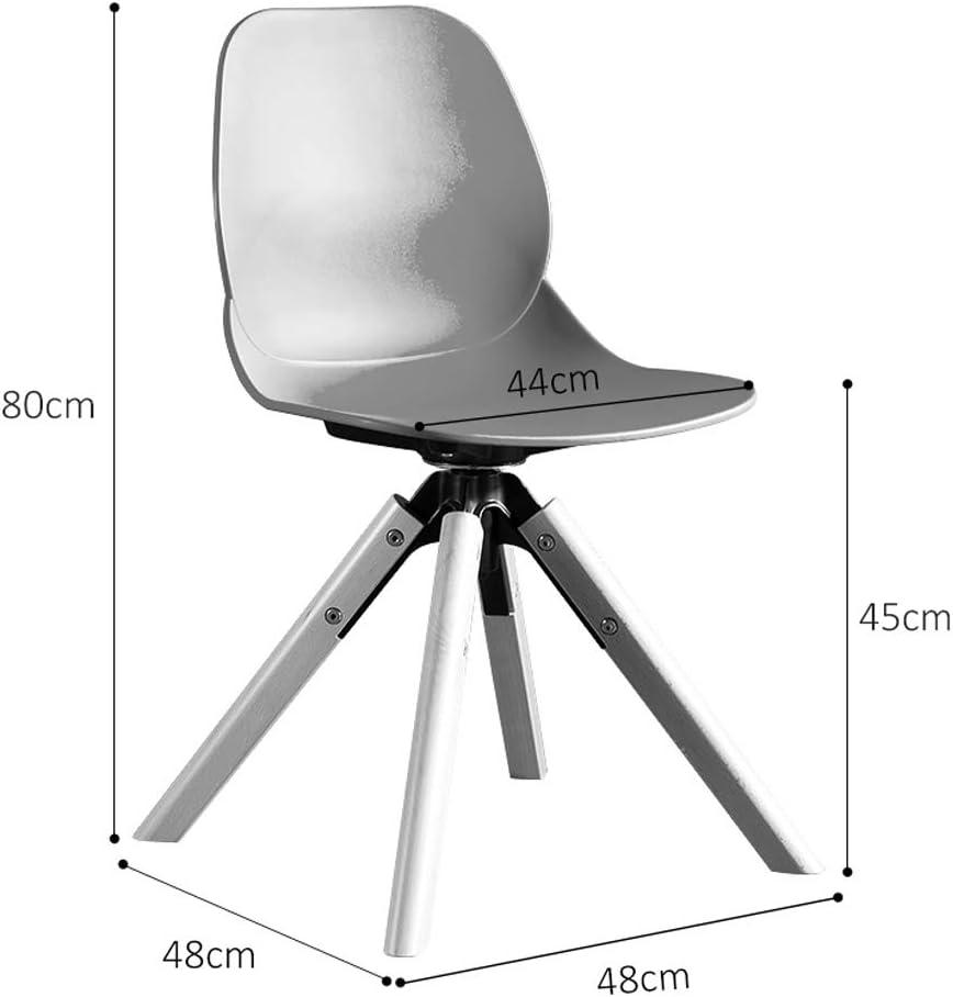 XXT Chaise de salle à manger, simple chaise de bureau, dossier créatif, chaise de loisirs, chaise de salle à manger pour adulte, durable (couleur : gris) Rouge