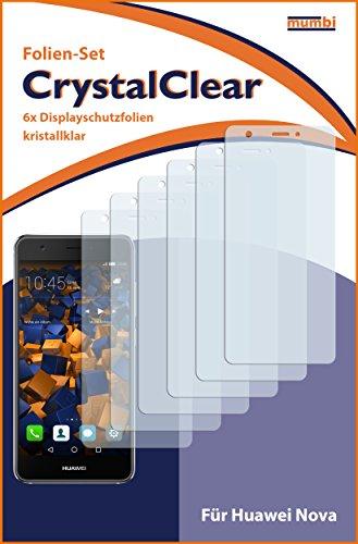 mumbi Schutzfolie kompatibel mit Huawei Nova Folie klar, Displayschutzfolie (6X) - 3