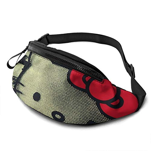 Yugy Cartoon Hello Kitty for Men Women Fanny Packs Waist Pack Bag with Headphone Jack and Adjustable Straps Belt Bags Super Lightweight Cute Fashion Waist Bag