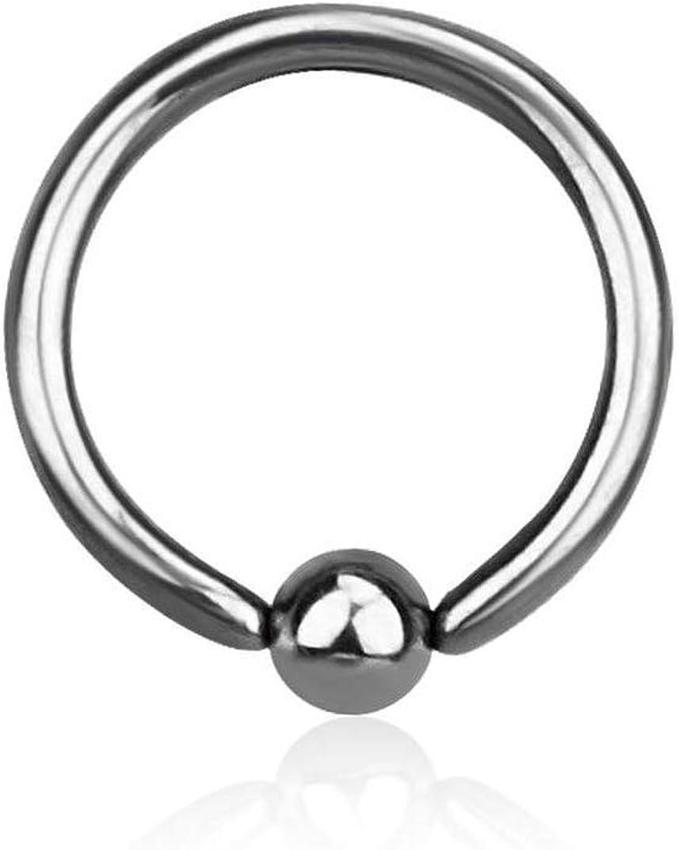 16G G23 Implant Grade Sterilized Titanium Captive Bead Ring for Septum Cartilage Helix Daith Tragus Piercings