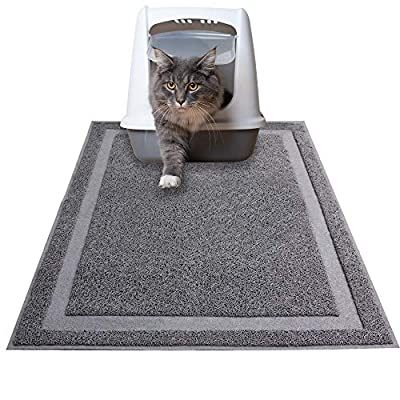 Pet Prime Cat Litter Mat Non-slip Cat litter Mat Jumbo Litter Box Mat with Scatter Control - Soft on Kitty Paws Large 90 X 60 CM