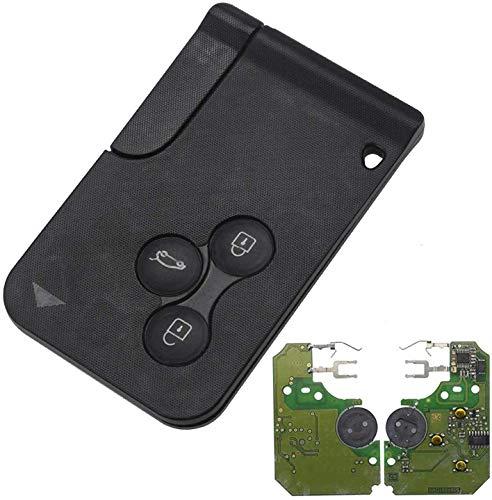 smartcard - Tarjeta completa con programación electrónica para Renault Scénic Mégane Koleos Clio Laguna 433 Mhz ID46 PCF7947 ProPlip