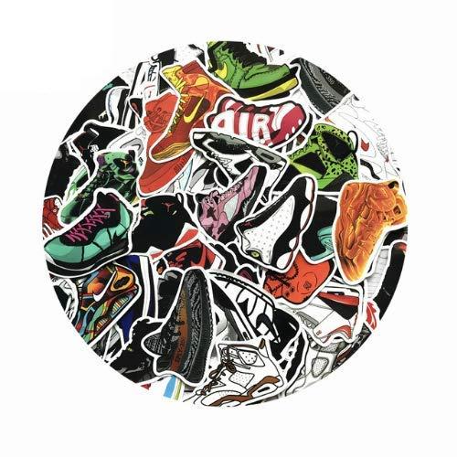 Zapatos Pegatinas Mixtas De Dibujos Animados Jordan Sneaker Pegatinas Para Portátil Bicicleta Maletero Graffiti Fresco Impermeable Pegatinas 100 Unids