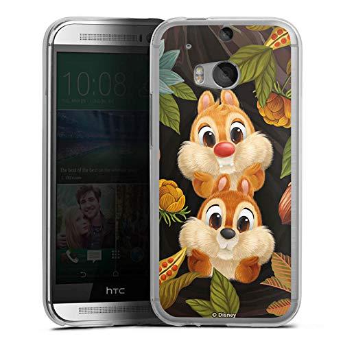 DeinDesign Silikon Hülle kompatibel mit HTC One M8s Case transparent Handyhülle Disney Chip und Chap Offizielles Lizenzprodukt