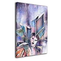 Skydoor J パネル ポスターフレーム 仮面の人 インテリア アートフレーム 額 モダン 壁掛けポスタ アート 壁アート 壁掛け絵画 装飾画 かべ飾り 50×40
