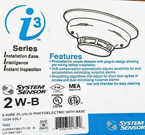 System Sensor 2W-B i3 Series 2-wire, Photoelectric i3 Smoke Detector