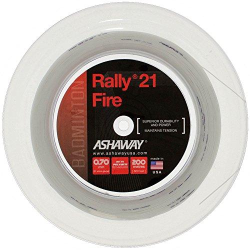 ASHAWAY Rally 21 Fire Badminton-Saite – 200 m Rolle, Farbe: Weiß