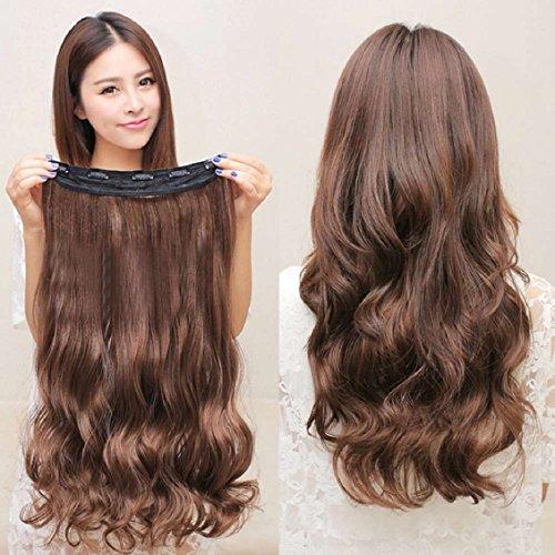 Malloom® Clip Tête Bouclée Femmes Ondulées D'extension De Cheveux Synthétiques