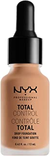 NYX PROFESSIONAL MAKEUP Total Control Drop Foundation, Natural, 0.43 Fluid Ounce
