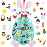 Max Fun Eater Felt Crafts 3.1 Ft DIY Rabbit Felt Craft Ornaments with Hanging Craft Kits for Kids Easter Birthday Party Favor (Eatser Rabbit)