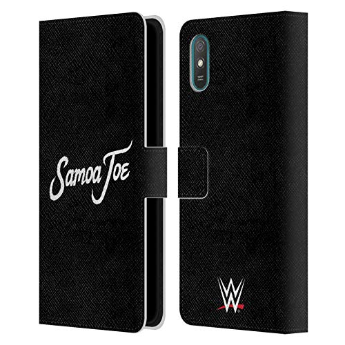 Head Case Designs Officially Licensed WWE Logo Samoa Joe Leather Book Wallet Case Cover Compatible with Xiaomi Redmi 9A
