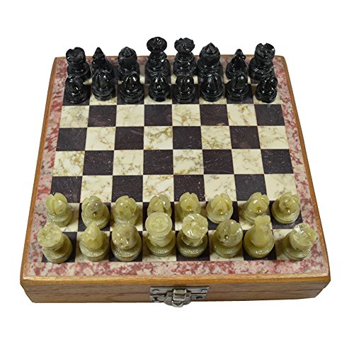 Royal Royal Handicrafts Handcrafted Soapstone Chess Set