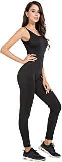 MANCYFIT Bodycon Jumpsuit for Women Sleeveless Long Bodysuit Catsuit Sexy Outfit