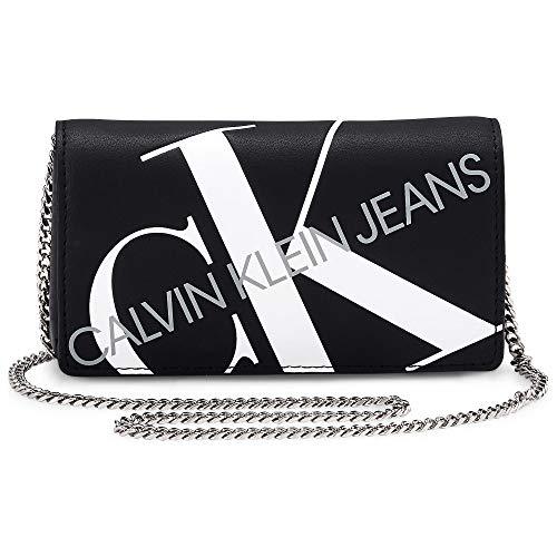 Calvin Klein Jeans Damen Schultertasche PHONE CROSSBODY Schwarz Synthetik 0