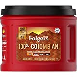 Folgers 100% Colombian Medium Roast Ground Coffee, 24.2 Ounces (Pack of 6)