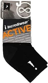 Incrediwear - Bamboo Charcoal Socks Above Ankle Sports Black - Large
