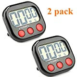 Digital Kitchen Timer Big LCD Screen Loud Alarm Strong Magnetic Back and St