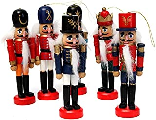 Handcraft Wood - 6pcs Exquisite Colorful Wooden Nutcracker Handcraft Gifts House Office Home Decor And Display 12cm - Cutting Ducks Bowl Puzzles Board Kids Table Original Urns Wood Bench House F
