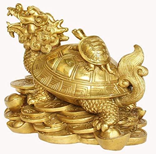 MARUA Reines Kupfer Drachen Schildkröte Ornamente Und Große Und Mittlere Kleine Kleine Schildkröte Chinesischen Verzierungen Stil Ruyi Büro Bronzebarren Traditionellen Schmuck,nr.