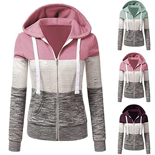 Chaqueta de invierno para mujer, ligera, cómoda, parka con capucha ajustable, cremallera y capucha, chaqueta corta para otoño e invierno