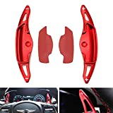 iJDMTOY Red CNC Billet Aluminum Steering Wheel Larger Paddle Shifter Extension Covers Compatible With 2018-up Hyundai Genesis G70 Sedan
