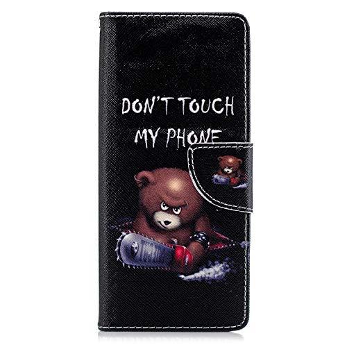 Lomogo Sony Xperia 10 Hülle Leder, Schutzhülle Brieftasche mit Kartenfach Klappbar Magnetverschluss Stoßfest Kratzfest Handyhülle Case für Sony Xperia10 - LOBFE050119#9