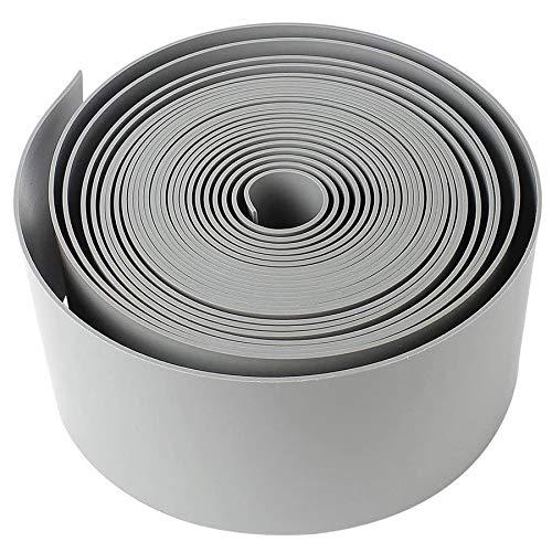 AYITOO Rasenkante Kunststoff, Rasen Beeteinfassung Beetumrandung Mähkante Profilkante für Kurven,PE Rasenkanten Palisade (25m*10cm)