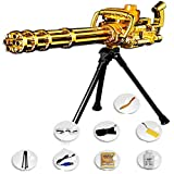 AFF Gatling Water Bullets Gun Toys para niños Plastic Sniper Soft Paintball CS Games Outdoor Kids Weapon To,Oro