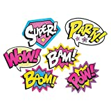 Cardboard Jumbo Superhero Girl Wall Word Cutouts (size: 24' x 18 1/2 ' or 17 1/2') - 6 pcs by Party Supplies