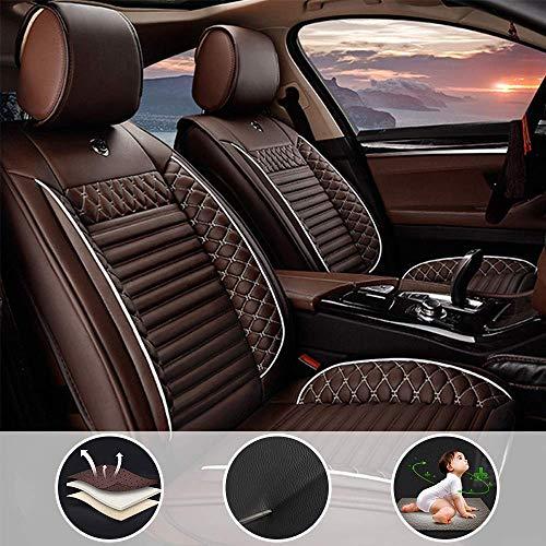 shanhua PU Leder Sitzbezüge-Set wasserdichte 5 Sitze Full Set für K ia Rondo mit Seiten Airbag Öffnungen Kaffee
