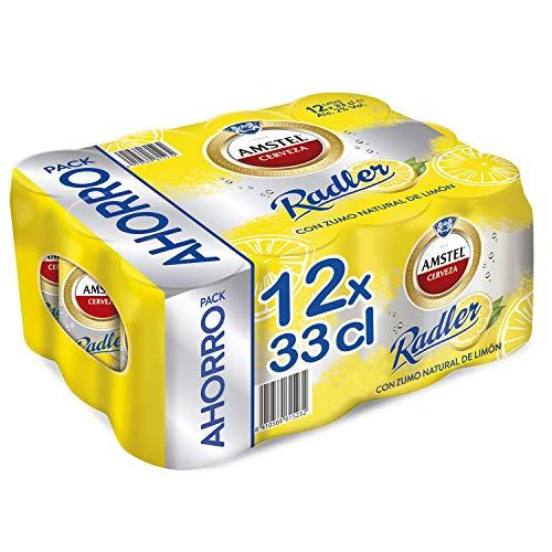 Amstel Radler Limón Cerveza - Pack de 12 Latas x 330 ml (Total: 3.96 L)