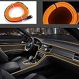 El Wire Car 5m/16ft Neon Light 12V LED Luci fredde Neon EL Wire Lampade automatiche per de...