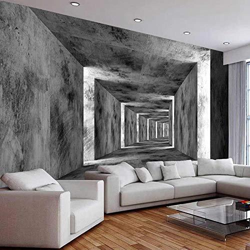 Foto muurschildering cement muur 3D driedimensionale gang uitgebreide ruimte achtergrond behang woonkamer sofa wanddecoratie-350 * 256cm