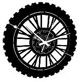 Instant Karma Clocks Orologio da Parete Corsa Pista Gara Enduro Motocross Moto, Vinile, Nero
