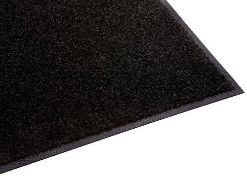 Guardian Platinum Series Indoor Wiper Floor Mat, Rubber with Nylon Carpet, 5'x16', Black