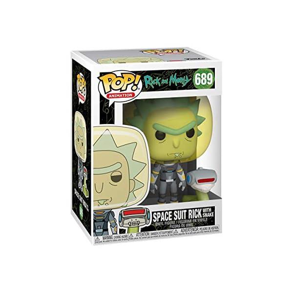 Funko Pop Rick con traje espacial y serpiente (Rick & Morty 689) Funko Pop Rick & Morty
