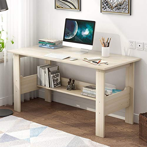 Computer Desk with Storage Shelves Monitor Stand Study Table for Home Office Desk Gaming PC Laptop Desk Work Study Table (Computer Desk)