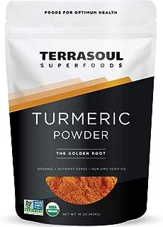 Terrasoul Superfoods Organic Turmeric Powder, 16 Oz - Curcumin | Lab Tested for Purity | Premium Quality